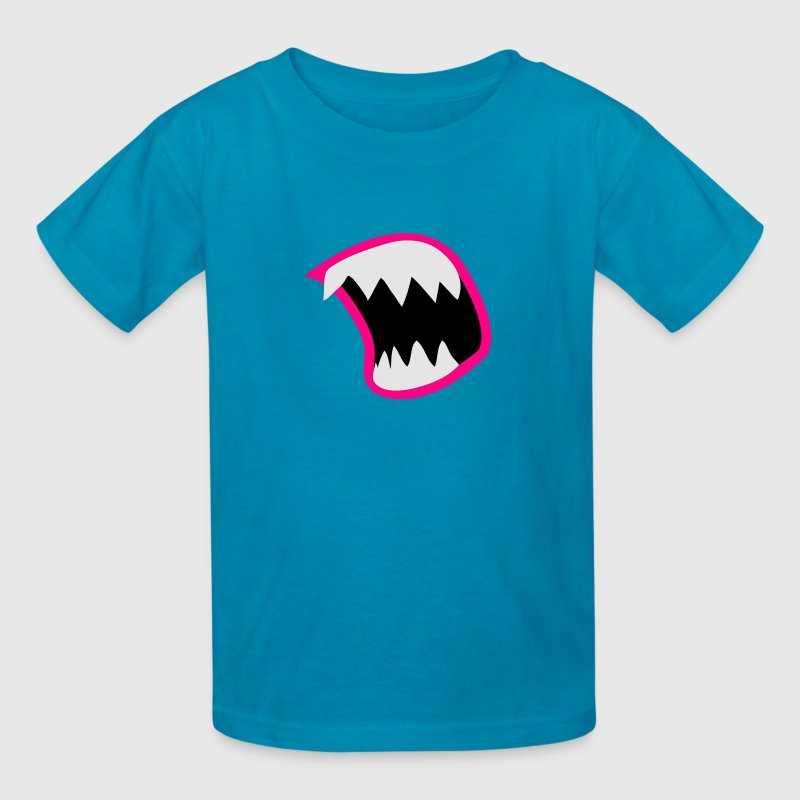 Yellow open mouth with sharp teeth eating you! Kids' Shirts - Kids' T-Shirt