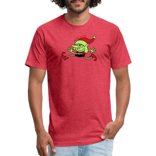Merry Christmas Santa's Elf - Fitted Cotton/Poly T-Shirt by Next Level