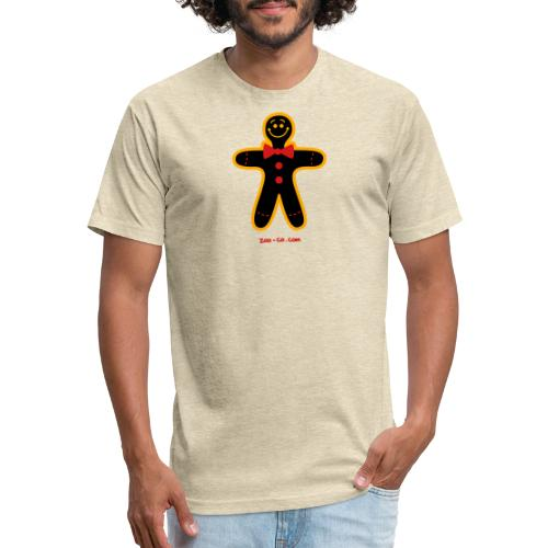 Christmas Cookie Man - Fitted Cotton/Poly T-Shirt by Next Level