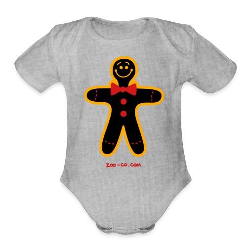 Christmas Cookie Man - Organic Short Sleeve Baby Bodysuit