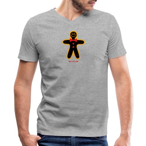 Christmas Cookie Man - Men's V-Neck T-Shirt by Canvas