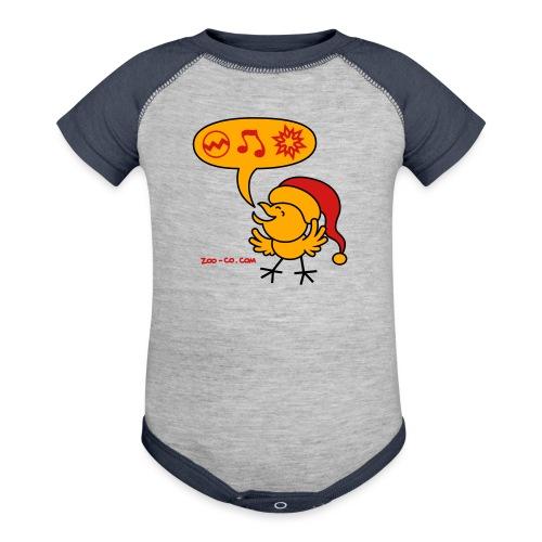 Christmas Chicken making a Wish! - Baseball Baby Bodysuit