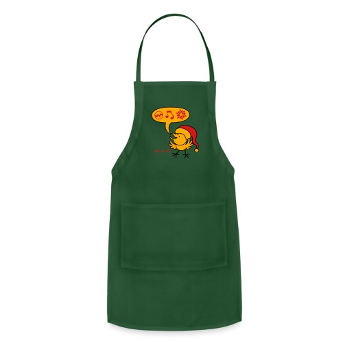 Christmas Chicken making a Wish! - Adjustable Apron