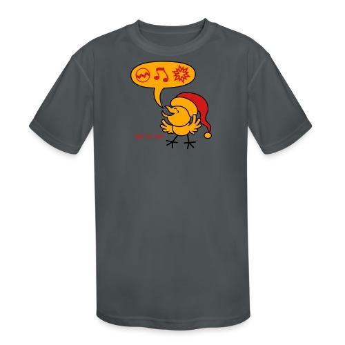 Christmas Chicken making a Wish! - Kids' Moisture Wicking Performance T-Shirt