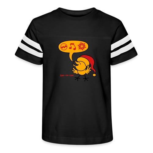 Christmas Chicken making a Wish! - Kid's Vintage Sport T-Shirt