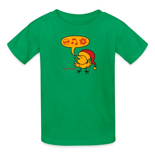 Christmas Chicken making a Wish! - Kids' T-Shirt