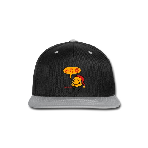 Christmas Chicken making a Wish! - Snap-back Baseball Cap