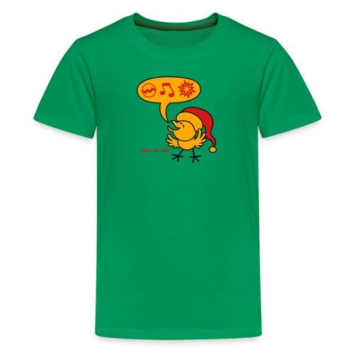 Christmas Chicken making a Wish! - Kids' Premium T-Shirt