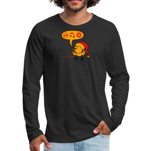 Christmas Chicken making a Wish! - Men's Premium Long Sleeve T-Shirt