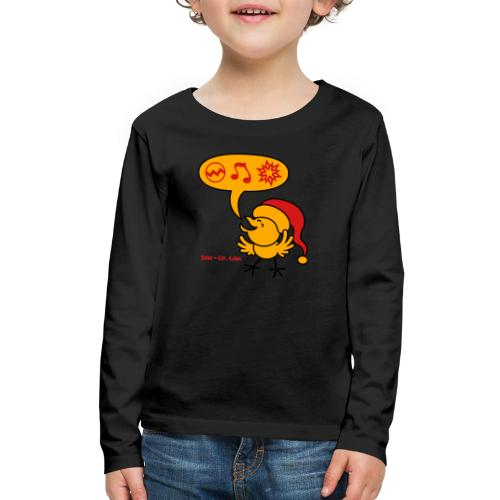 Christmas Chicken making a Wish! - Kids' Premium Long Sleeve T-Shirt