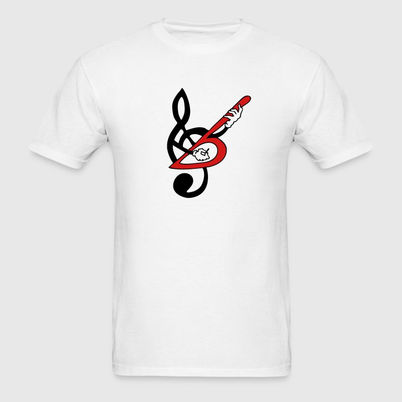 Treble Clef Guitar Bass 2c T-Shirt | Spreadshirt