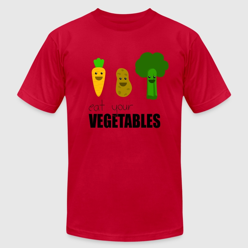 Eat yer vegetables  - Free color change - Men's T-Shirt by American Apparel