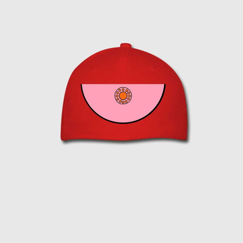 Red breast with nipple Caps - Baseball Cap
