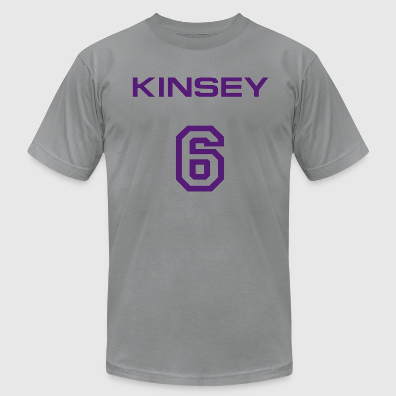 Kinsey 6 Economical T-shirt - Men's T-Shirt by American Apparel