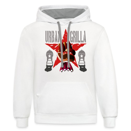 Urban Grilla, barbecue chef / cook - Contrast Hoodie