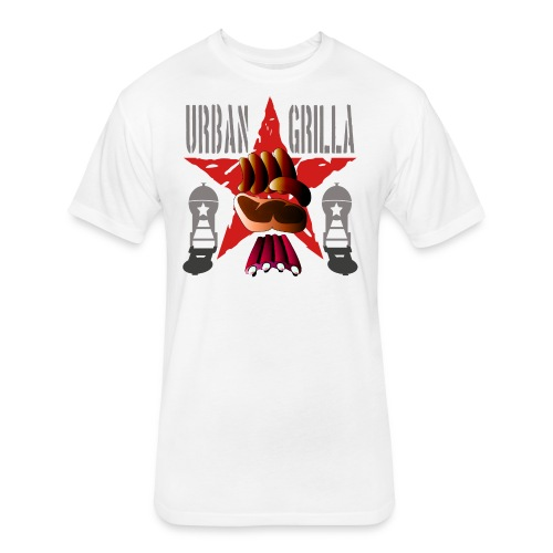 Urban Grilla, barbecue chef / cook - Fitted Cotton/Poly T-Shirt by Next Level