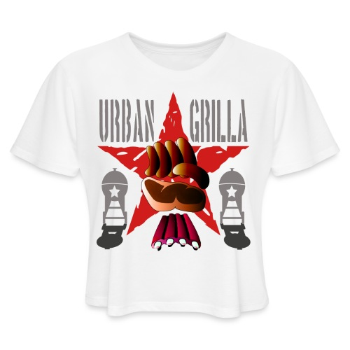 Urban Grilla, barbecue chef / cook - Women's Cropped T-Shirt