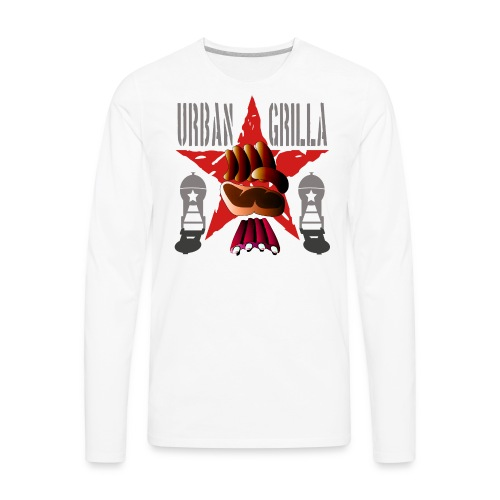 Urban Grilla, barbecue chef / cook - Men's Premium Long Sleeve T-Shirt