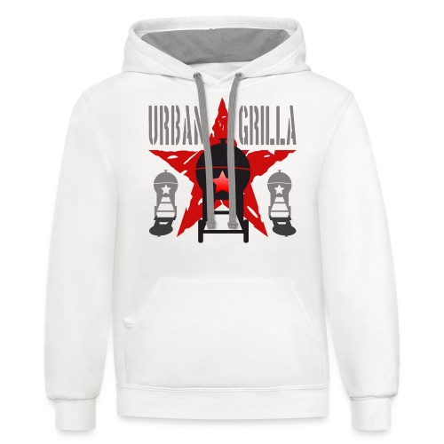 Urban Grilla BBQ, barbecue chef / cook 1 - Contrast Hoodie