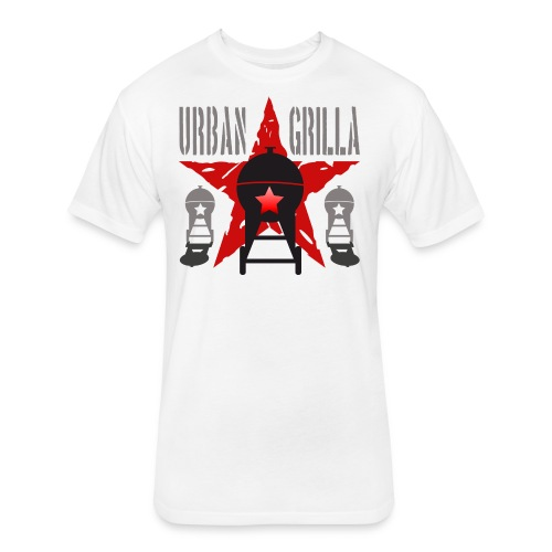 Urban Grilla BBQ, barbecue chef / cook 1 - Fitted Cotton/Poly T-Shirt by Next Level