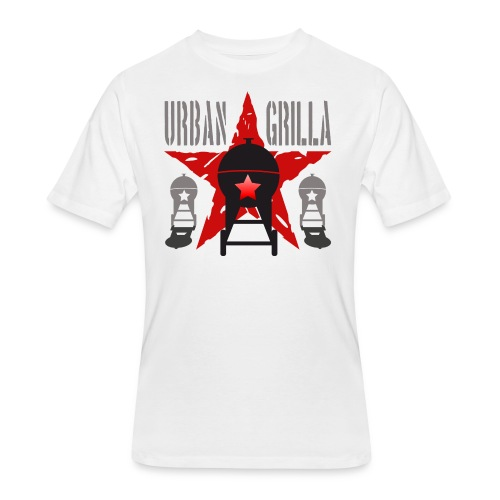 Urban Grilla BBQ, barbecue chef / cook 1 - Men's 50/50 T-Shirt