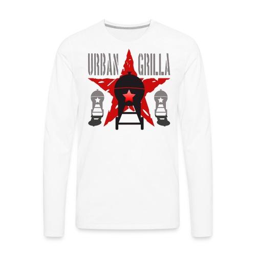 Urban Grilla BBQ, barbecue chef / cook 1 - Men's Premium Long Sleeve T-Shirt