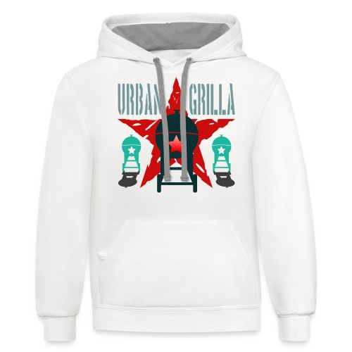 Urban Grilla BBQ, barbecue chef / cook 2 - Contrast Hoodie