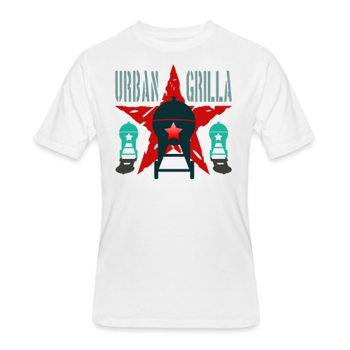 Urban Grilla BBQ, barbecue chef / cook 2 - Men's 50/50 T-Shirt
