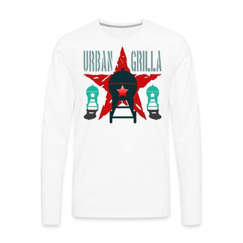 Urban Grilla BBQ, barbecue chef / cook 2 - Men's Premium Long Sleeve T-Shirt