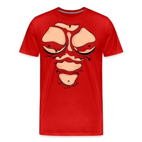 Ripped Muscles Female, chest T-shirt, comicbook breasts - Men's Premium T-Shirt