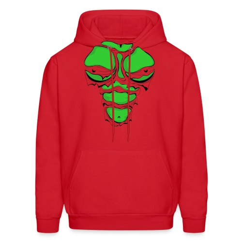 Ripped Muscles Female Green, chest T-shirt, comicbook breasts - Men's Hoodie