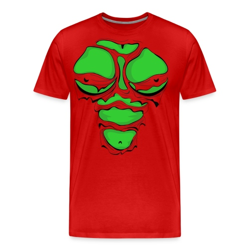 Ripped Muscles Female Green, chest T-shirt, comicbook breasts - Men's Premium T-Shirt