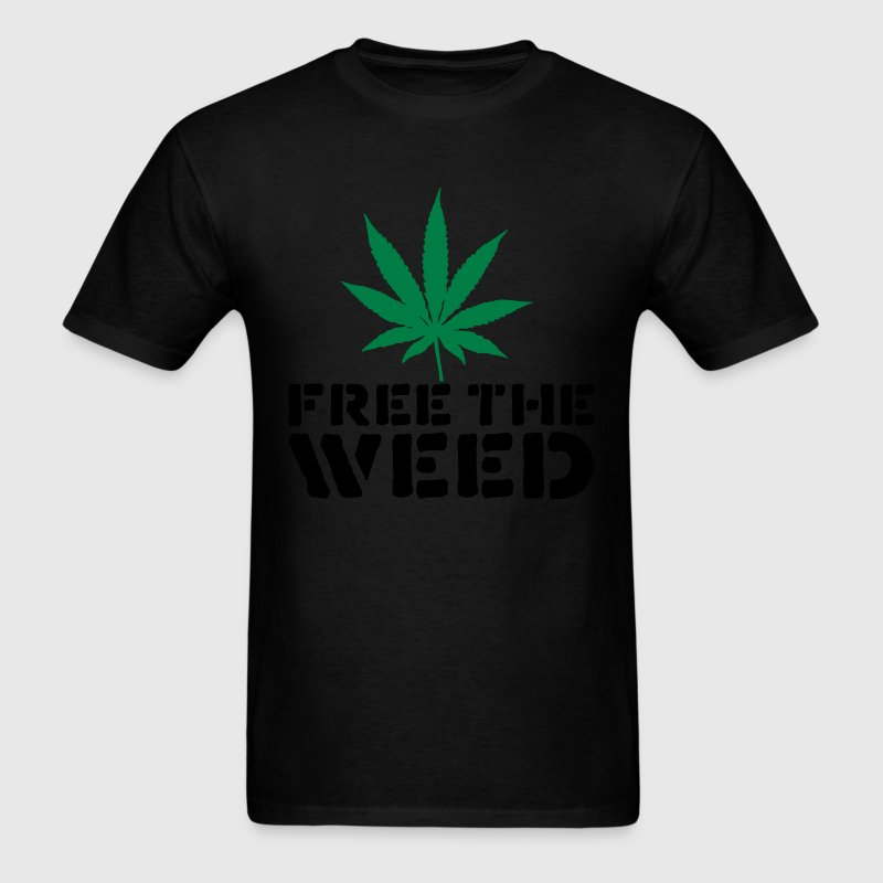 Black Free The Weed T-Shirts - Men's T-Shirt