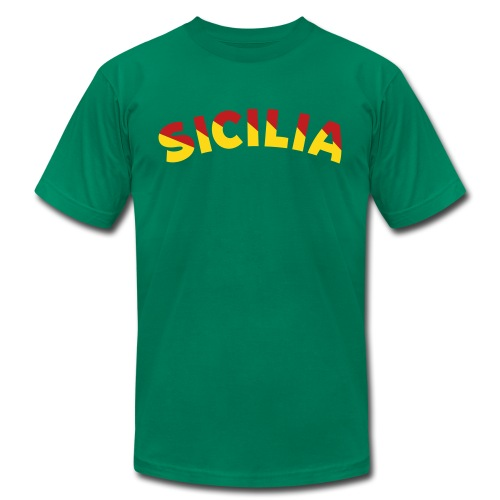 SICILIA AA T, Green - Men's T-Shirt by American Apparel