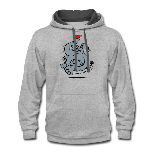 Fly me to the Moon Elephant - Contrast Hoodie