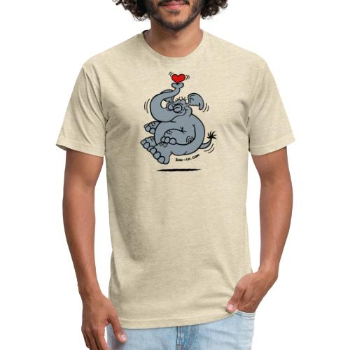 Fly me to the Moon Elephant - Fitted Cotton/Poly T-Shirt by Next Level