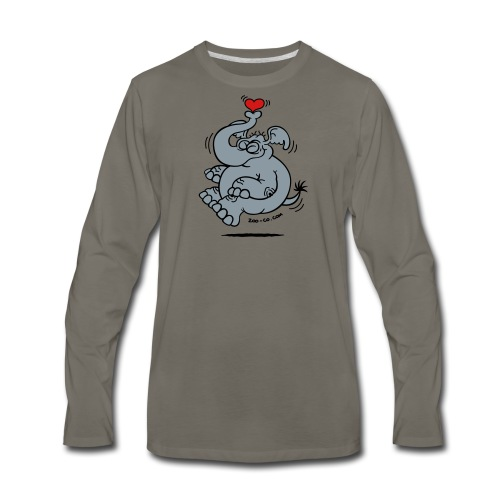 Fly me to the Moon Elephant - Men's Premium Long Sleeve T-Shirt