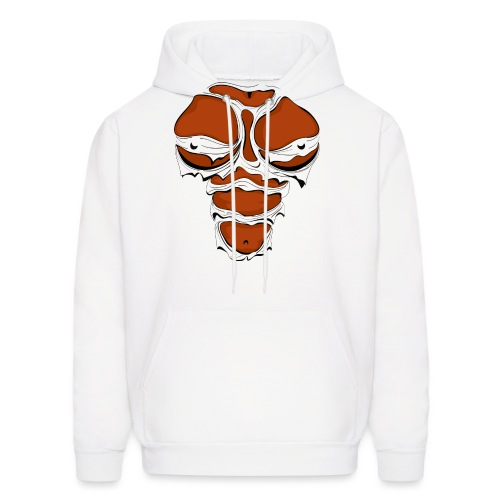 Ripped Muscles Female, chest T-shirt, comicbook breasts - Men's Hoodie