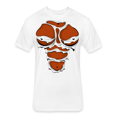 Ripped Muscles Female, chest T-shirt, comicbook breasts - Fitted Cotton/Poly T-Shirt by Next Level
