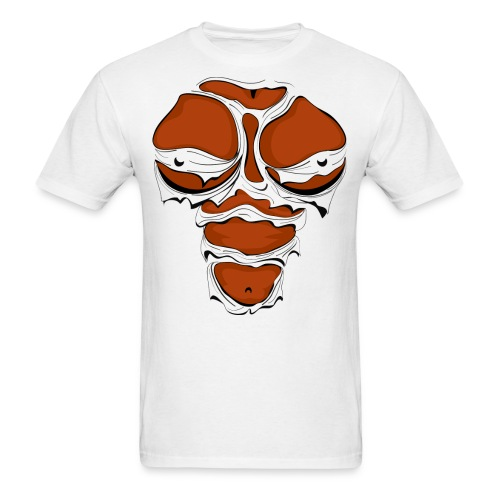 Ripped Muscles Female, chest T-shirt, comicbook breasts - Men's T-Shirt