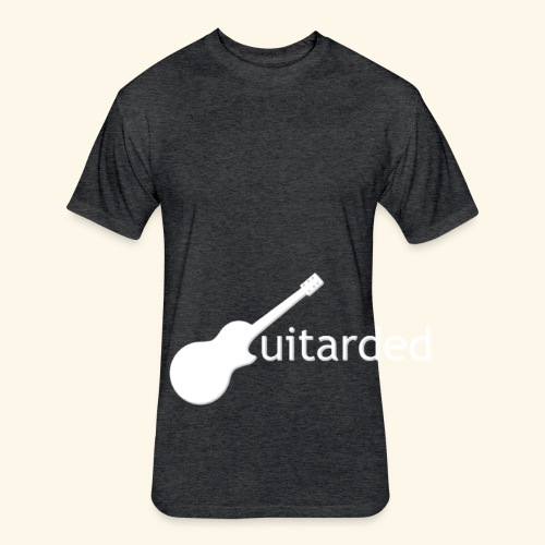 'Guitarded' shirt with vertical 'Guitarded' design  - Fitted Cotton/Poly T-Shirt by Next Level