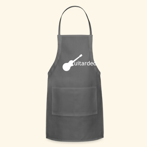 'Guitarded' shirt with vertical 'Guitarded' design  - Adjustable Apron