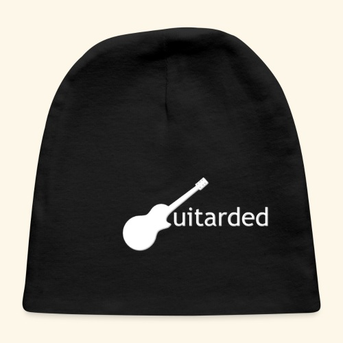 'Guitarded' shirt with vertical 'Guitarded' design  - Baby Cap