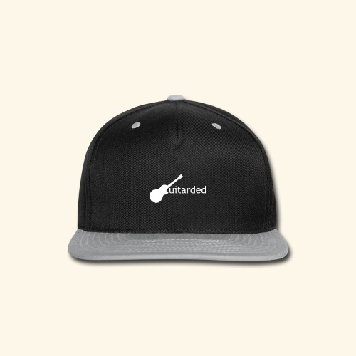 'Guitarded' shirt with vertical 'Guitarded' design  - Snap-back Baseball Cap