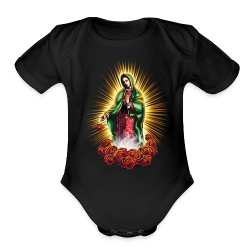 R-105 Guadalupe Glow Women's tee - Short Sleeve Baby Bodysuit