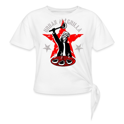 Urban Grilla, barbecue chef / cook - Women's Knotted T-Shirt