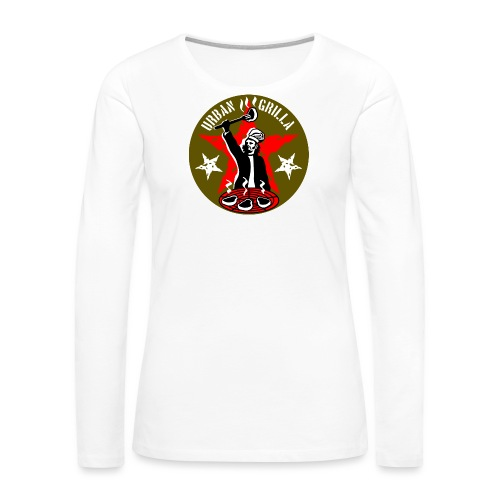 Urban Grilla, barbecue chef / cook - Women's Premium Long Sleeve T-Shirt