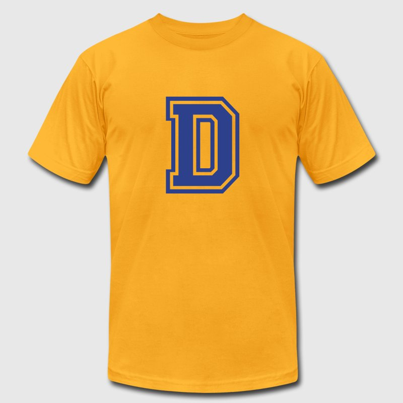 Gold Letter D T-Shirts - Men's T-Shirt by American Apparel