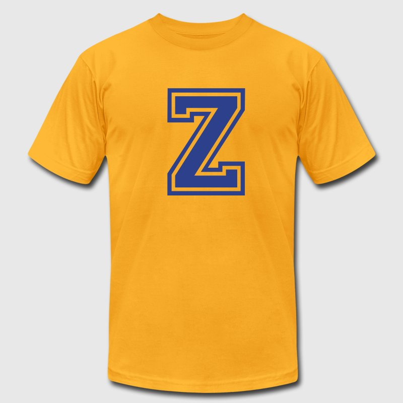Gold Letter Z T-Shirts - Men's T-Shirt by American Apparel