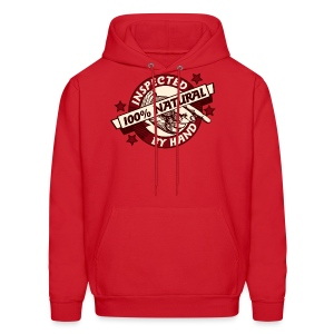100% Natural Inspected by Hand - Men's Hoodie